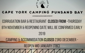Punsand Bay 2018 season closing dates